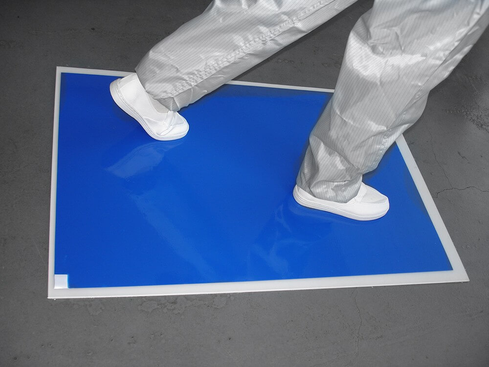 tacky clean room floor sticky mats american blue